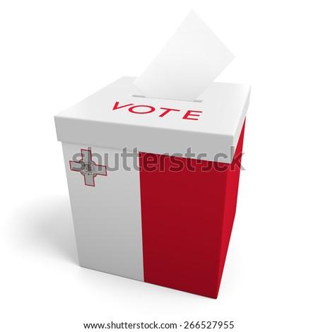 Malta election ballot box for collecting votes - stock photo