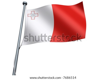 Malta Flag - stock photo