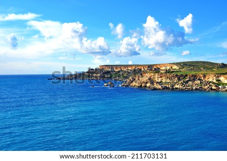 Maltese islands, Mediterranean sea - stock photo