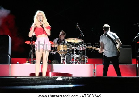 MAMAIA - JUNE 26: 2009 BRIT Awards Winner, Duffy in concert on June 26, 2009 at H2O Beach, Mamaia, Romania.
