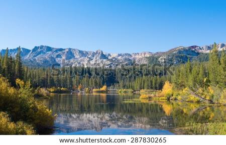 Mammoth lakes - stock photo