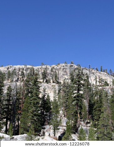 Mammoth Mountain backcountry.Inyo National Forest. - stock photo