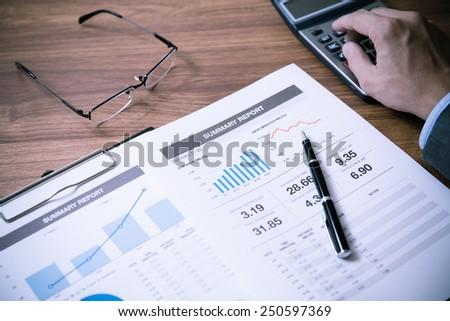 Man Analysis Business Accounting - stock photo