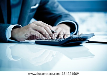 Man Analysis Business Accounting - stock photo