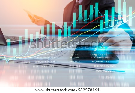 Stock Data Analysis On Financial Forex Stock Photo 546133276