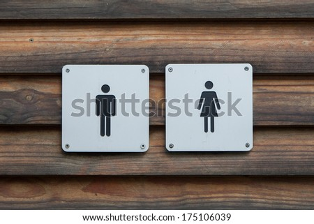 Man and a lady toilet sign - stock photo