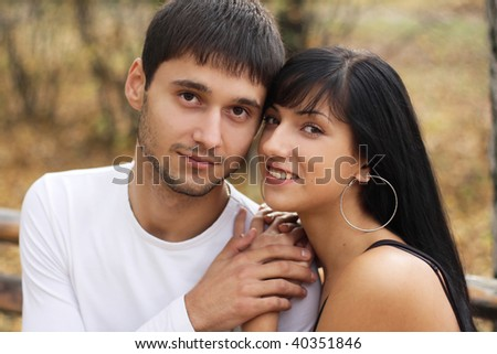 man and a woman on the blurred background