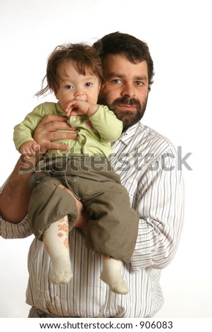 man and baby - stock photo