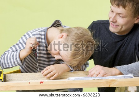 Man and boy Building
