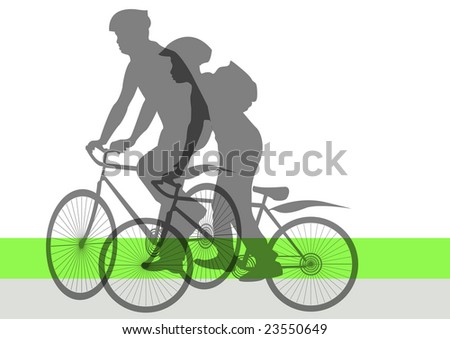 man and boy on bicycles in park
