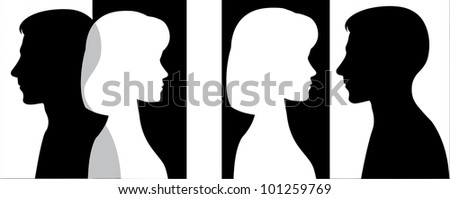 Man and woman - stock photo