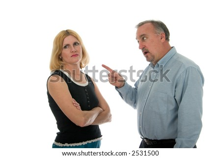 Man and woman arguing. - stock photo