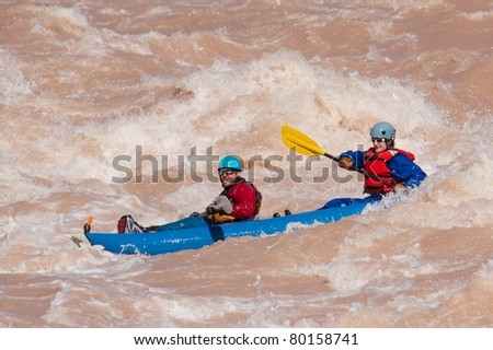Man and Woman Challenging the Colorado River