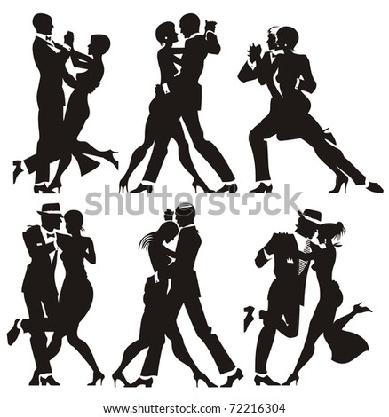 man and woman dance at a party - stock photo