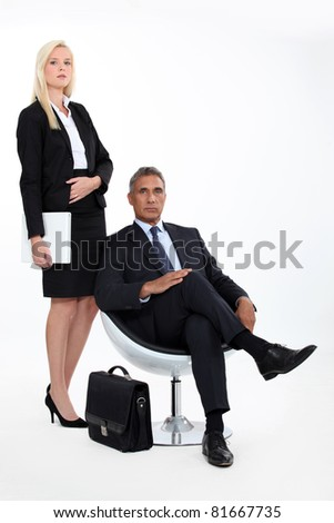 man and woman executives - stock photo