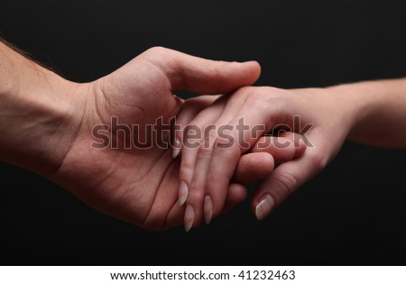 Man and woman hands - stock photo