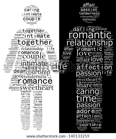 Man and woman in black and white - stock photo