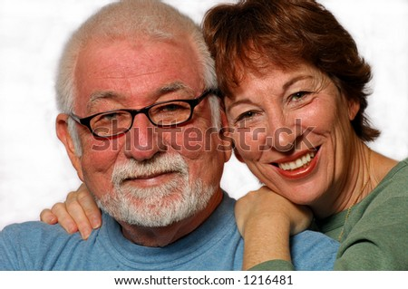 Man and woman in loving relationship - stock photo