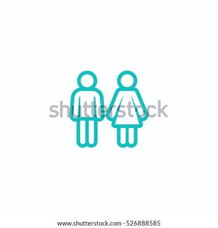 Bathroom Sign Boy Girl man woman restroom sign boy girl stock illustration 131382194