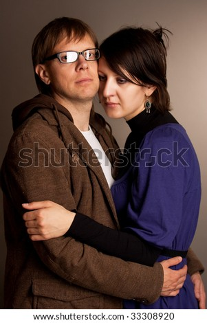 man and woman together embrace