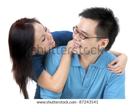 Man and women in a conversation. - stock photo