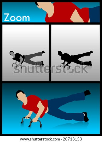 man and work out on isolated white background - stock photo