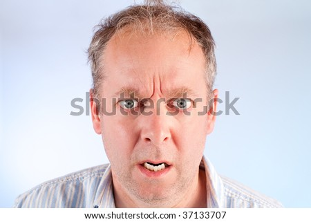 Man Angry about Something - stock photo