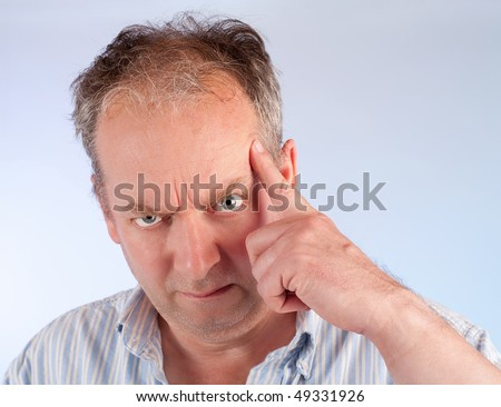 Man Asking You to Seriously Think About Something - stock photo