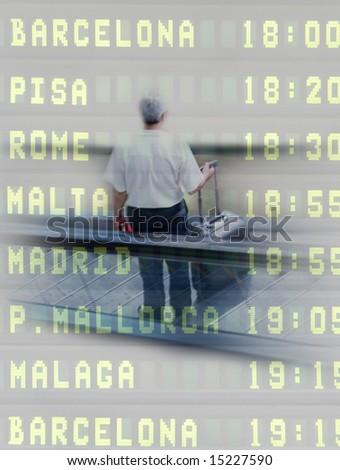 Man at Airport - stock photo