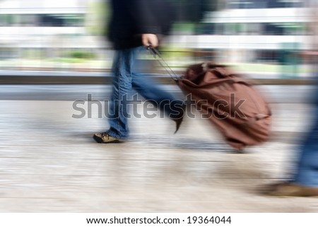 Man at the Airport - stock photo