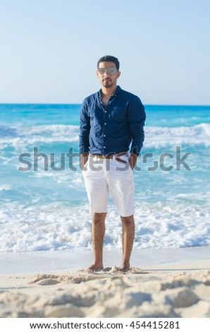 man at the beach