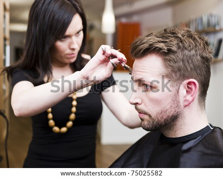 Man at the Hair salon situation