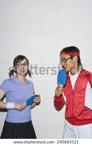 Man Attracted to Female Player - stock photo