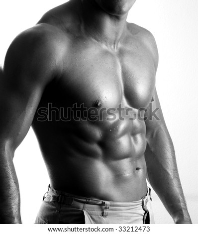 man body - stock photo