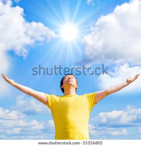 Man Born by the Sun - stock photo