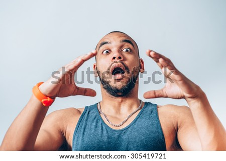 man calling someone - stock photo