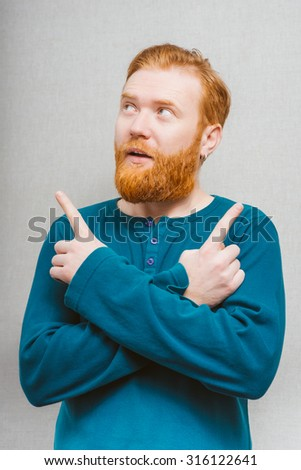 man chooses the direction - stock photo