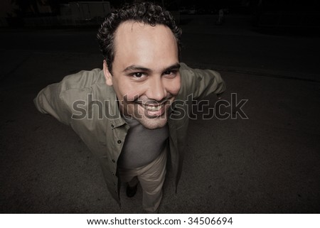 Man coming close to the camera
