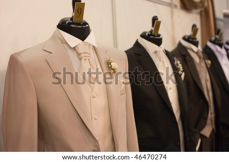 man costumes on shop mannequins