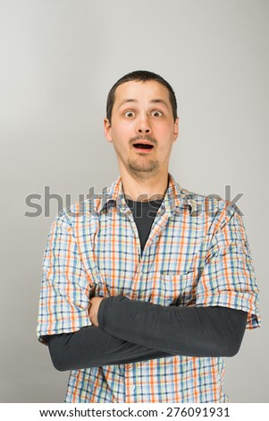 man crossed his arms - stock photo