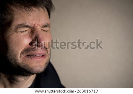 Man Crying - stock photo