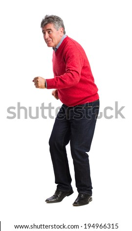 Man dancing - stock photo