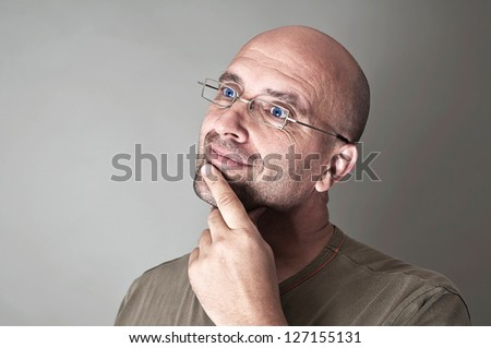 Man daydreaming - stock photo