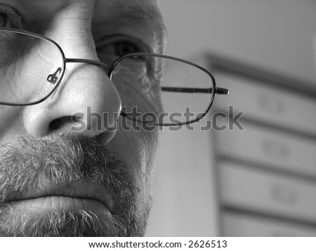 Man Deep in Thought - stock photo