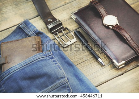 Leather Craft Leather Working Selected Pieces Stock Photo ...