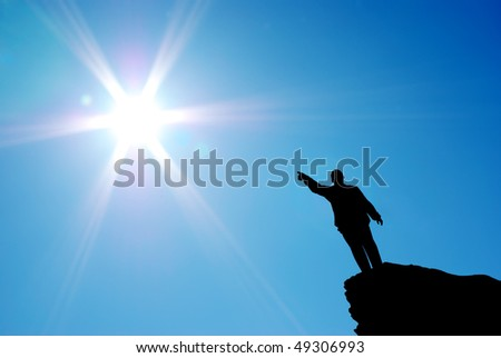 Man direct to the sun. Conceptual design.