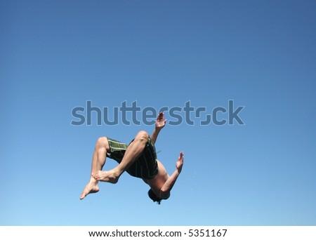Man diving - stock photo
