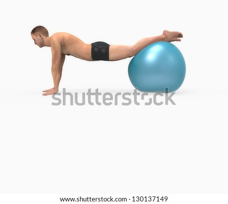 Man doing pilates exercises