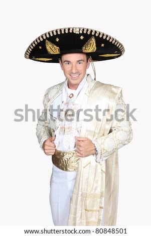 Man dress in bullfighter costume - stock photo