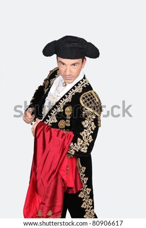 Man dressed as a matador - stock photo